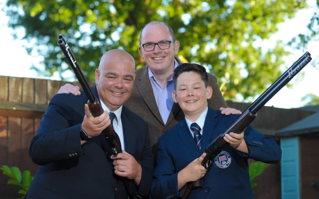 DOUBLE-BARRELED GOLDS FOR FATHER AND SON DUO