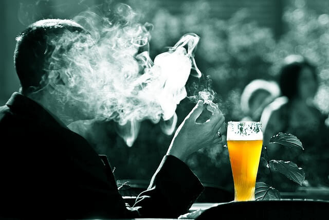 DRINKING WILL SOON BE ON A PAR WITH SMOKING